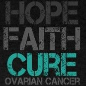 One Year ago today, I found out I had ovarian cysts. Not knowing if my cysts were cancerous or not, was the scariest thing i've faced so far. I am so blessed God has helped me though the rough times (not to mention my husband and dog). I pray for a cure for all the mothers,daughters,sisters,and friends who are facing this battle. I pray for hope.