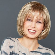 Bob Style Short Heat Resistant Synthetic Fashion Mixed Color Straight Women's Wig
