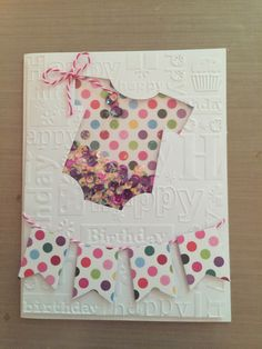 Baby's first birthday shaker card.