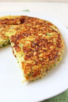 Tortilla de zapallo italiano Veggie Recipes, Mexican Food Recipes, Italian Recipes, Great Recipes, Vegetarian Recipes, Cooking Recipes, Healthy Recipes, Quiches, Omelettes