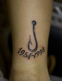 Fish+Hook+Tattoo+Designs+for+girls | Memorial Tattoos For Grandpa Cowboy Grandpa tattoo on pinterest