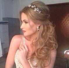 Bridal hair down style