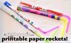 free printable paper rocket templates to colour and make