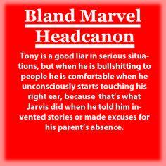 Bland Marvel Headcanon. Tony Stark (Ironman) and Jarvis.