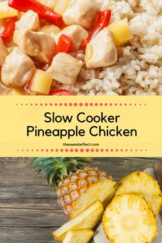 Easy, delicious and good for you, this pineapple chicken satisfies the craving for takeout and tastes better in my opinion ; Pineapple Chicken Recipes, Canned Pineapple, Nutritional Value Of Eggs, Ginger And Honey, Gluten Free Chicken, Meal Prep, Cravings, Slow Cooker, Protein Nutrition