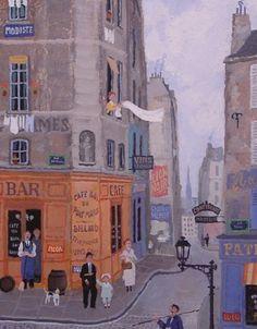 Le Bar Du Pont Marie 1999 by Michel Delacroix Delacroix Paintings, Selling Art Online, Naive Art, Illustrations And Posters, Michel, Landscape Art, Oeuvre D'art, Folk Art, Museum