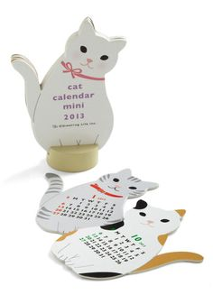 Year of the Critter 2013 Calendar in Cat, #ModCloth