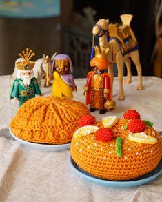 Doudou, maman, papa et moi: Couronne des rois C2c, Galette, Knitting, Desserts, Couture, Food, Toys, Amigurumi, Mini Fruit Tarts