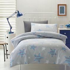Kids House Zig Zag Star Quilt Cover Set   Spotlight Site AU