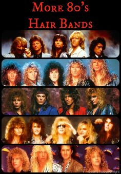 Hair Bands of the Quiz for Throwback Thursday More Hair Bands. Answers on RobynsOnlineWorld. You are in the right place about Musical Band style Here w Big Hair Bands, 80 Bands, Hair Metal Bands, Hair Band For Girl, Flower Hair Band, Elastic Hair Bands, Music Bands, Flowers In Hair, Rock Bands
