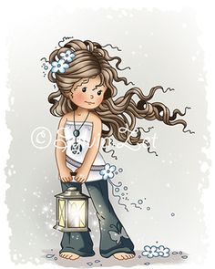 """""""Hopeful"""" designed by Sylvia Zet © Wee Stamps for Whimsy Stamps Deeply etched rubber mounted on cling cushion foam, untrimmed. Approximate size in inches: x Whimsy Stamps, Digi Stamps, Sweet Pictures, Holly Hobbie, Cute Images, Cute Illustration, Copic, Cute Drawings, Cute Art"""