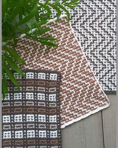 Kjøkkenkluter i vevstrikk Forskjellige mønstre og morsomme å strikke.Anna og Claras bomull fra Sø... Crochet, Dishcloth, Knitting, Google, Kitchen, Ideas, Carpet, Dots, Tricot