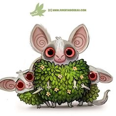Daily Paint 1297. Bushbabies #cute #art #illustration #animals