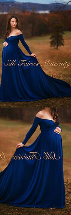 This style is elegant and a great option for mamma's who want more coverage. It can be worn by pregnant ladies to a baby shower, wedding, garden party or as a photo prop, but also by non pregnant women. The bottom is a half circle cut with a bit of a train. Darah Gold Maternity Dress,Off Shoulders, Long Sleeves Maternity, Baby Shower, Bridesmaids, Photo Prop Dress / Grown , half circle #bridesmaiddresses #ad #cuteoutfits