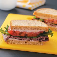 Deli Beef Sandwiches with Horseradish Mayonnaise Recipe -Sweet cherry preserves balance bold horseradish in this hearty sandwich. What a delicious noontime treat! —Greg Fontenot, The Woodlands, Texas