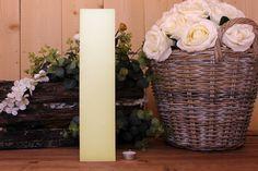 Κεριά μασίφ τετράγωνα σε χρώμα εκρού ΤΧ0940ΧΕΚ. Πλευρά: 9εκ. Ύψος: 40εκ. Vase, Home Decor, Decoration Home, Room Decor, Jars, Vases, Interior Decorating, Jar