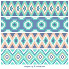 Geometric background in pastel colors Free Vector