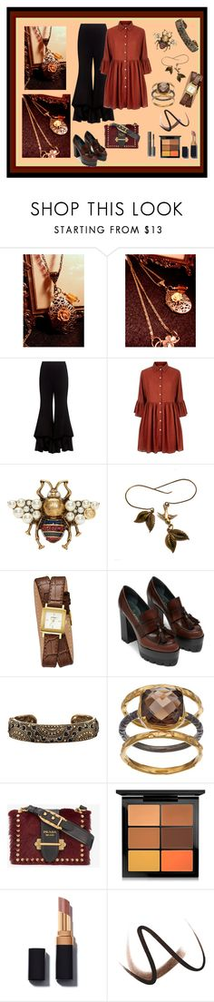 """""""Rose Filigree KeepSake Locket Necklace-Antique Bronze-w/Greek Key Link Chain 28 inch-Decorated Locket-Locket Necklace-Vintage Style Locket"""" by bamasbabes ❤ liked on Polyvore featuring Alexis, Mela Loves London, Gucci, GUESS, Avon, Olive & Ivy, Prada, MAC Cosmetics, Burberry and Chanel"""
