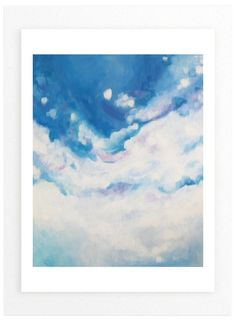 """Clouds Descending "" - Art Print by jennifer hallock in beautiful frame options and a variety of sizes."