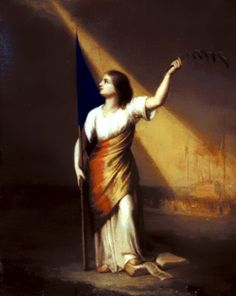 """""""Romania Breaking off Her Chains on the Field of Liberty"""", romantic painting by Constantin Daniel Rosenthal Rosenthal - Romania rupandu-si catusele pe Campia Libertatii - Romantic Paintings, Art Database, All Poster, Romania, Fields, Liberty, Fine Art, Chains, Face"""