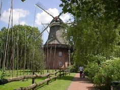Bad Zwischenahn, Germany Historical Park with working windmill