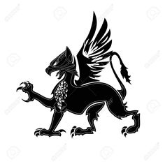 Griffin Heraldry Symbol Royalty Free Cliparts, Vectors, And Stock . Griffin Tattoo, Griffin Logo, Greif Tattoo, Vintage Compass Tattoo, Armadura Medieval, Arm Art, Symbol Logo, Stencil Designs, Disney Wallpaper