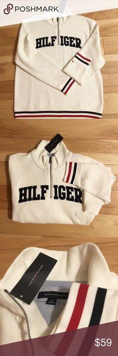 NWT Tommy Hilfiger 3/4 zip pullover NWT super soft light fleece inside retail $89.50 Tommy Hilfiger Shirts Sweatshirts & Hoodies