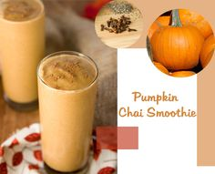vegan pumpkin chai smoothie