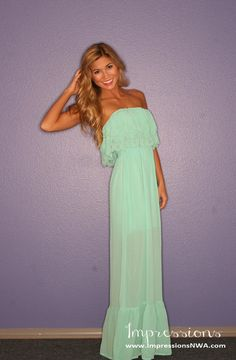 $42 southern charm mint maxi