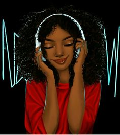 Ideas Music Cartoon Art Beautiful For 2019 Black Love Art, Black Girl Art, Black Is Beautiful, Black Girls, Natural Hair Art, Natural Hair Styles, Black Power, Afrique Art, Black Girl Cartoon
