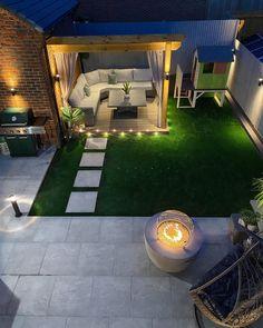 Terrace Garden Design, Back Garden Design, Small Backyard Design, Backyard Seating, Modern Garden Design, Backyard Patio Designs, Modern Backyard, Small Backyard Landscaping, Backyard Ideas