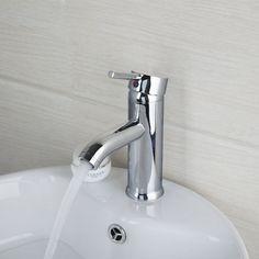 e-pak Contemporary Brass  Bathroom Sink Faucet Mixers - Chrome Finish