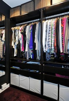 built in closet - love the long shallow drawers