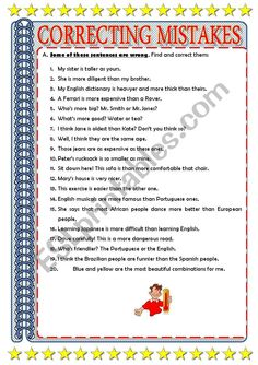 English Dictionaries, Adverbs, Grammar Worksheets, English Grammar, Mistakes, Language, Teaching, Templates, Education
