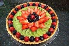 Crostata alla frutta con fragole e kiwi