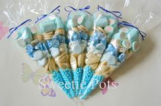 Blue/White Sweet/Candy Cones