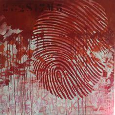 Bewijsstuk 17m3 Acryl op doek 100 x 100 cm