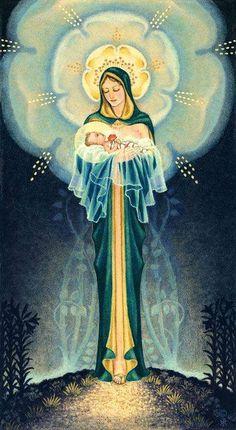 Hermosa imagen de María y Jesús Niño... no se el nombre exacto de ésta advocación.