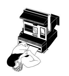 All illustrations are drawn by Henn Kim. Black And White Drawing, Black And White Illustration, Tom Bagshaw, Henn Kim, Visual Metaphor, Diy Art Projects, White Ink, Black White, Photo Illustration