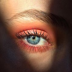 "@aniamilczarczyk en Instagram: ""Close up of the eye makeup from yesterday's shoot with @marnieharris using Samoa Silk eye shadow by @maccosmetics (comes out a little more orange on iPhone but is a bit more peachy in real life) @modelco_cosmetics fat lash mascara @eyeko brow gel and a few people were asking about the foundation but it was a mixture of @lauramercieraus tinted moisturiser and @lauramercier secret camouflage """