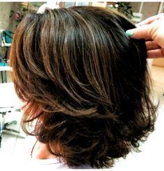 Layered Haircuts Thin Hair, Brown Layered Hair, Haircuts For Medium Hair, Long Bob Hairstyles, Short Hair Cuts, Medium Hair Styles, Curly Hair Styles, Hair Medium, Pixie Haircuts