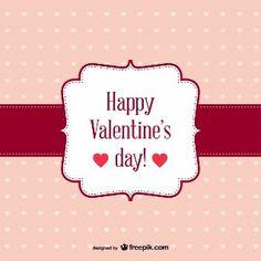 Feliz San Valentín, tarjeta retro gratis