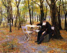 Falling Leaves, 1895, Philip Alexius de László