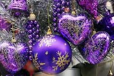 Love purple for Christmas deco