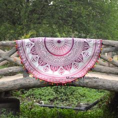 Roundie Indian Mandala Round Beach Towel Picnic Sheets Indian Mandala Roundies, Beach Throw, Round Table cover, Wall Hanging, Bedspread,Yoga Rug and mat, Hippie Roundie, Mandala Rug  Gorgeous and beautiful beach blankets are a boho babe essential and favourite. Handmade from 100% Cotton with ethnic mandala design. They can be used for the beach, as a wall hanging or on a bed or anywhere you like.