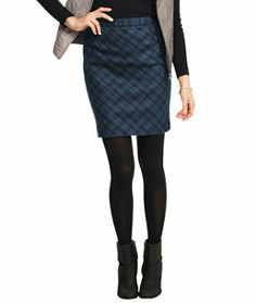 Italian Wool Skirt, Plaid