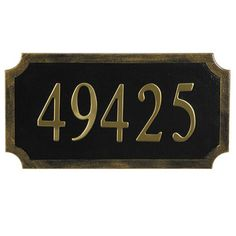 Traditional Address Plaque