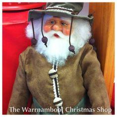 Hasn't this swagman Santa got a beautiful face!! #swagman #santa #warrnamboolchristmasshop #warrnambool #shop3280 #christmas by warrnambool_christmas_shop