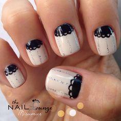 Girly gel nail art