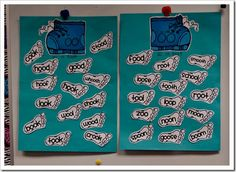 """teaching the  twoo different /oo/ sounds...I think I might do a foot and a boot as headers, then they can sort """"socks"""" with the words on them into correct pile"""